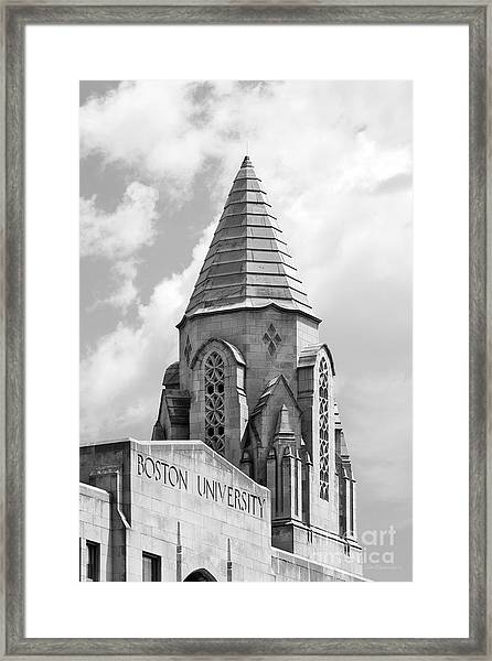 Boston University Tower Framed Print