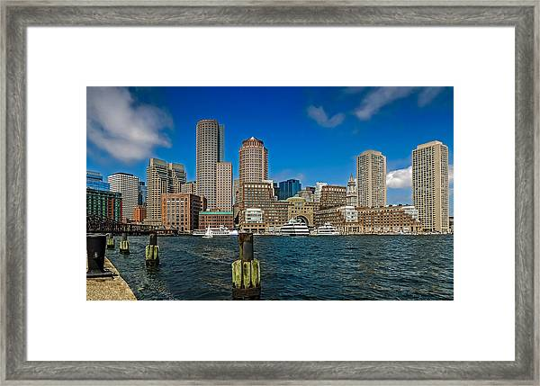 Boston Waterfront Skyline Framed Print