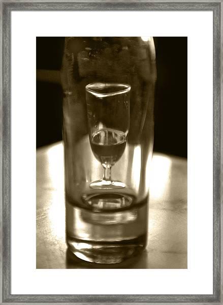Bottle And Glass0023 Framed Print