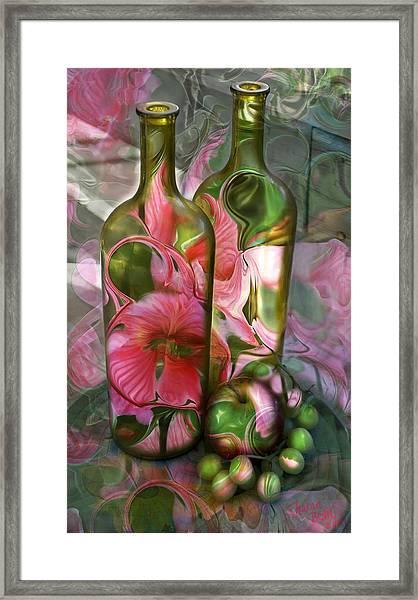 Bottle Art Framed Print