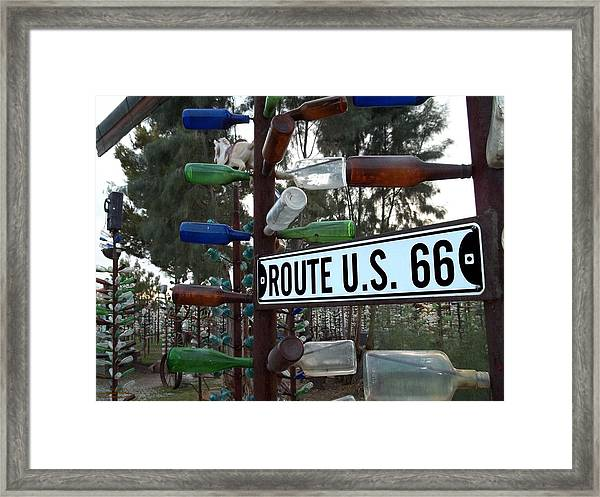 Bottle Trees Route 66 Framed Print