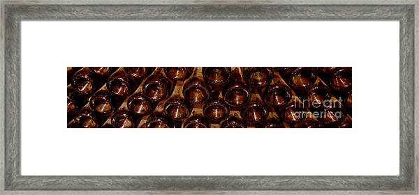 Bottles In The Cellar Framed Print