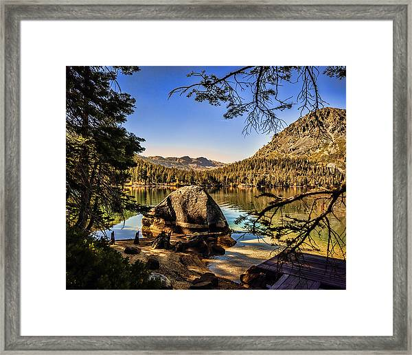 Framed Print featuring the photograph Boulder At Fallen Leaf Lake by William Havle
