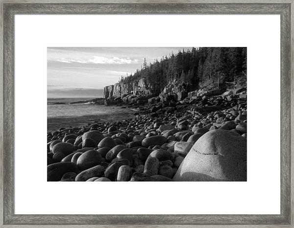 Boulder Beach Bw Framed Print