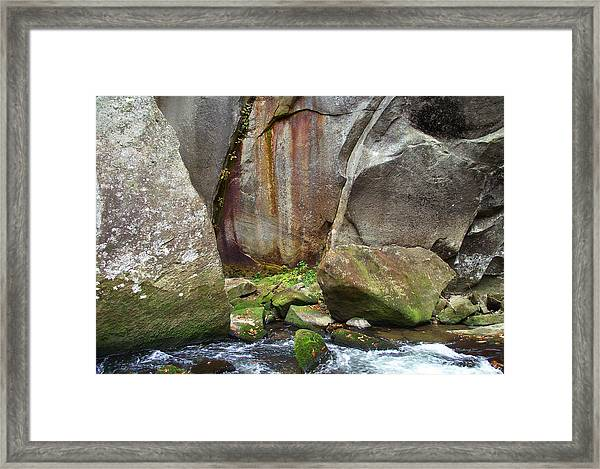 Boulders By The River Framed Print