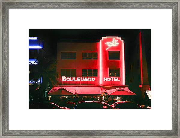 Boulevard Hotel Framed Print