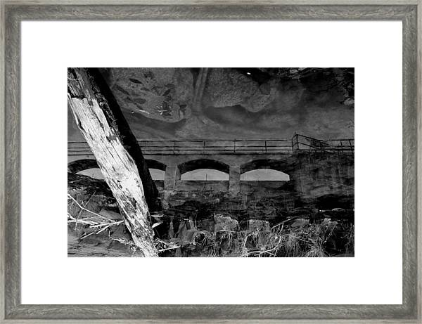 Boulevard Reflections Framed Print