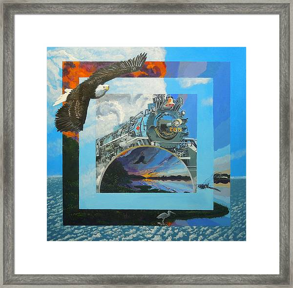 Boundary Series Xi Framed Print