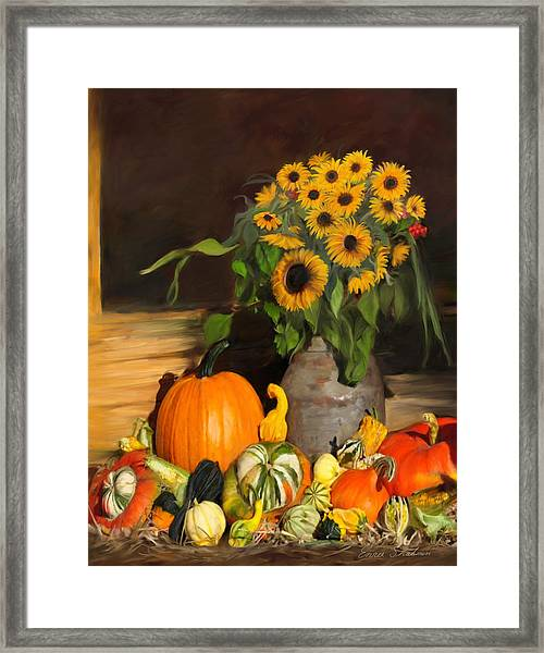 Bountiful Harvest - Floral Painting Framed Print