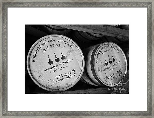 Framed Print featuring the photograph Bourbon Barrels by Mel Steinhauer