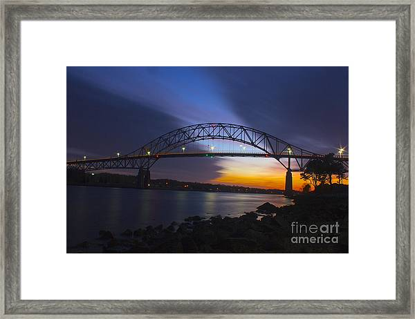 Bourne Bridge Framed Print
