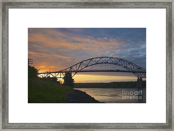 Bourne Bridge Sunrise Framed Print