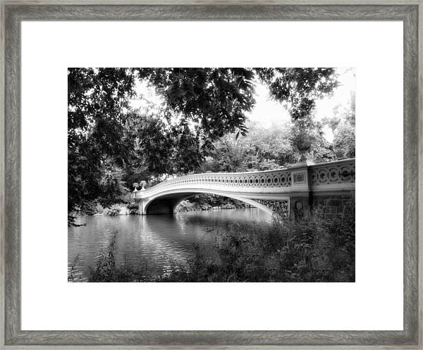 Bow Bridge In Black And White Framed Print