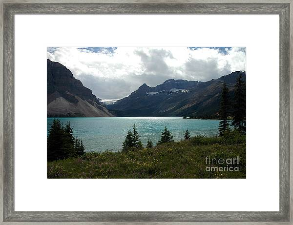 1021a Bow Lake Alberta Framed Print