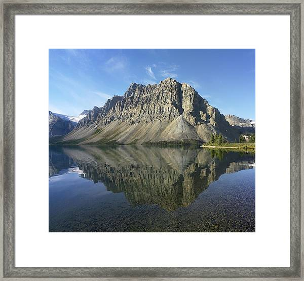 Bow Lake And Crowfoot Mts Banff Framed Print