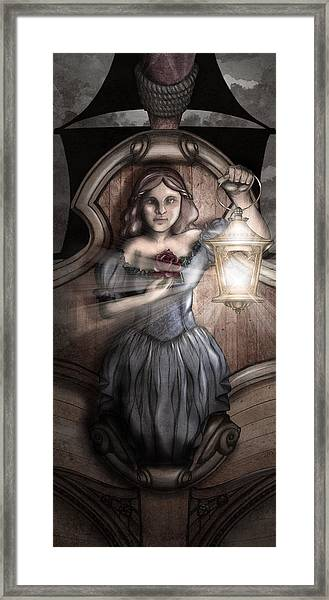 Bow Maiden Framed Print