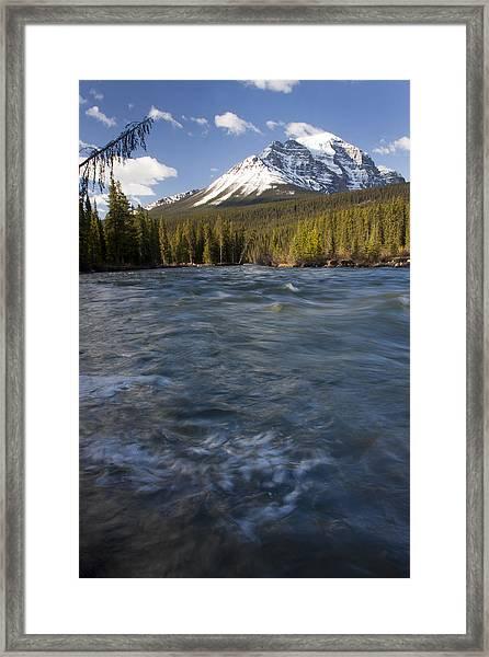 Bow River At Lake Louise Framed Print