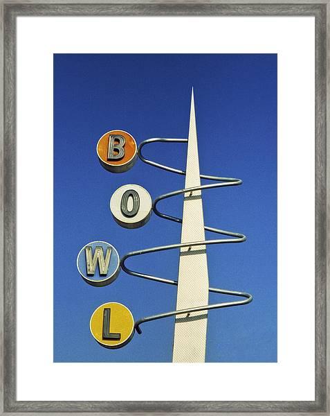 Bowl Sign Framed Print