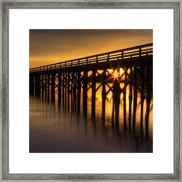 Bowman Bay Pier  #sunset Framed Print