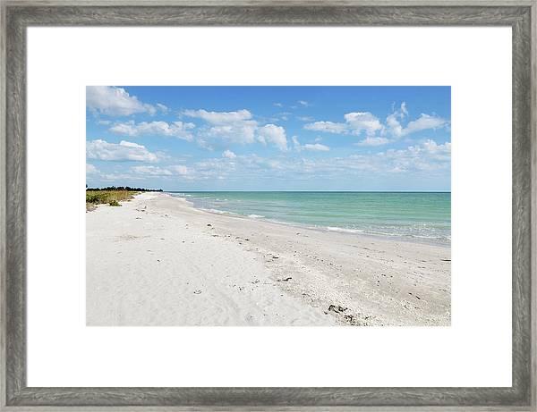 Bowman Beach On Sanibel Island Florida Framed Print