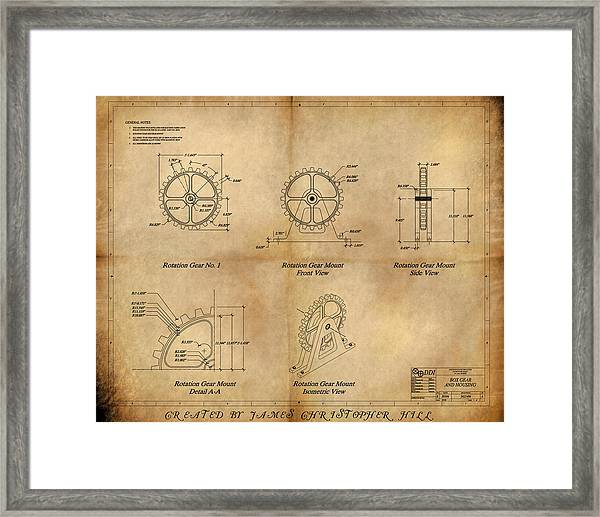 Box Gear And Housing Framed Print