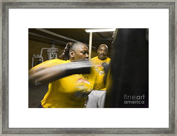 Boxer And Coach Framed Print