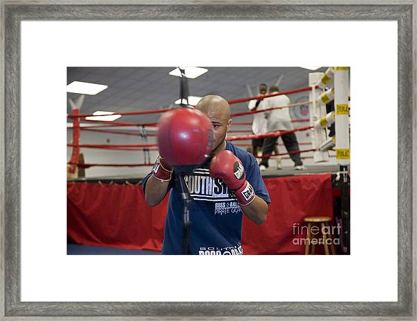 Boxer At Olympic Training Facility Framed Print