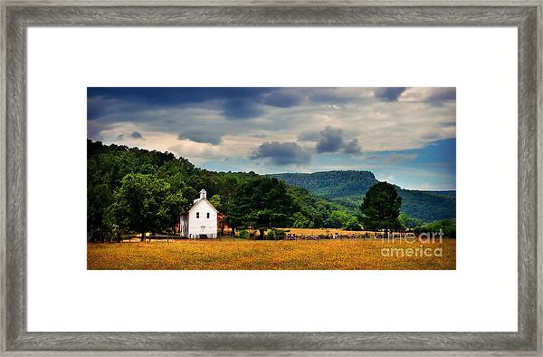 Boxley Valley Church Framed Print
