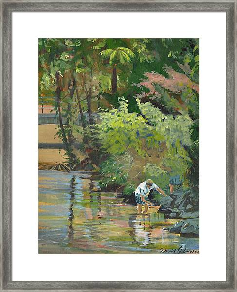 Boy In Park Framed Print
