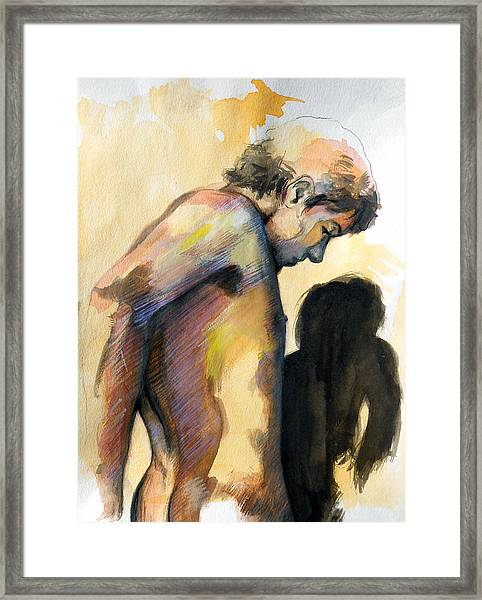 Boy Looking For Truth Framed Print