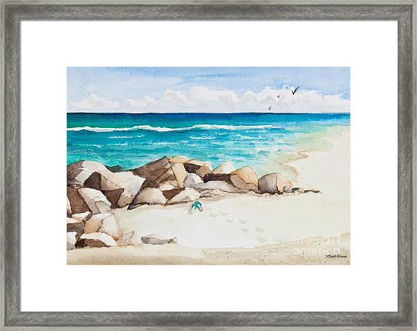 Boynton Beach Inlet Watercolor Framed Print