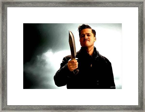 Brad Pitt @ Inglourious Basterds By Tarantino Framed Print