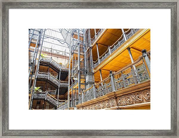 Bradbury Building Interior Framed Print