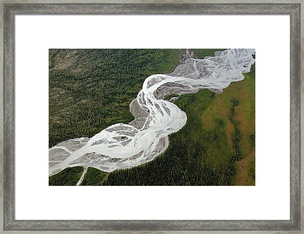 Braided River Framed Print by Dr Juerg Alean/science Photo Library