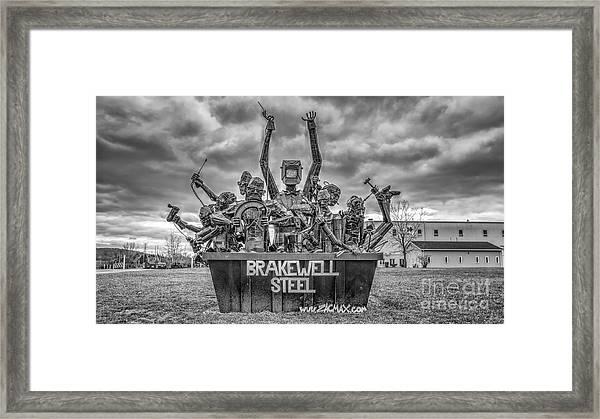 Brakewell Steel Framed Print