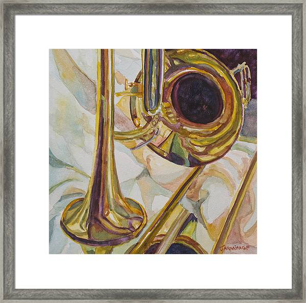 Brass At Rest Framed Print