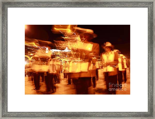 Brass Band At Night Framed Print