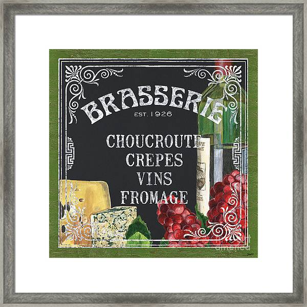 Brasserie Paris Framed Print