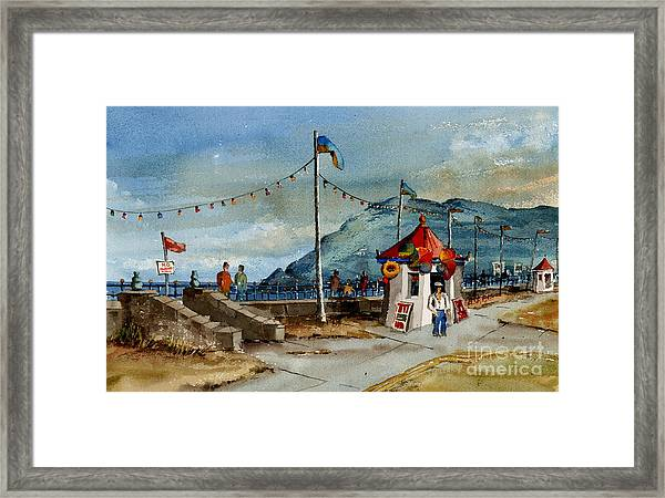 Bray Head And Prom Wicklow Framed Print