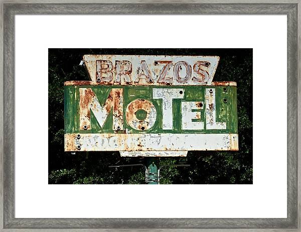 Brazos Motel Framed Print