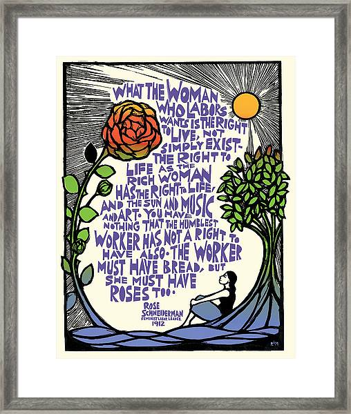 What She Wants Framed Print by Ricardo Levins Morales