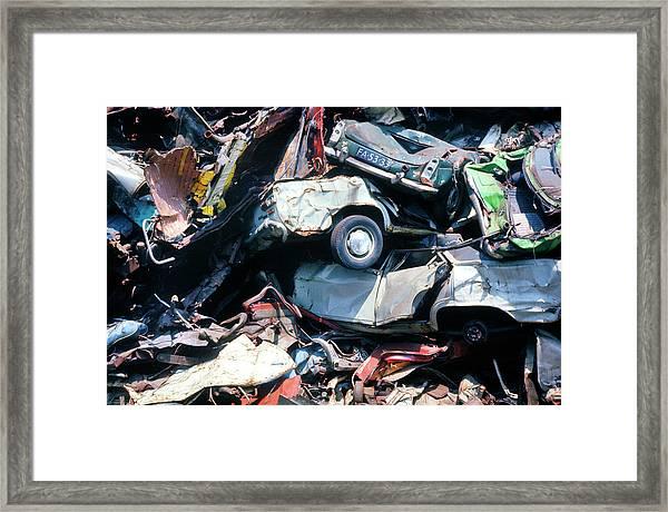 Breaker's Yard Framed Print by Ton Kinsbergen/science Photo Library