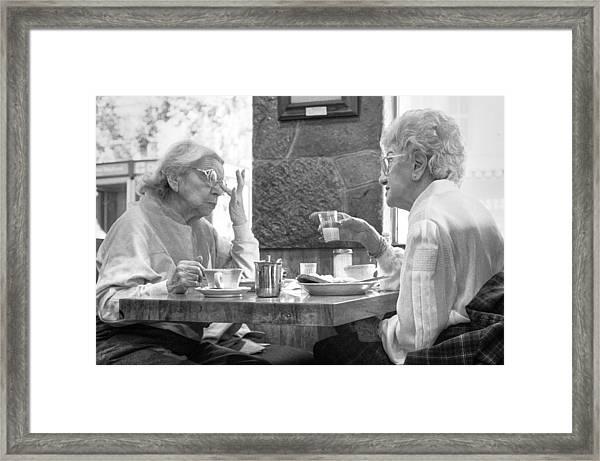 Breakfast Ladies Framed Print