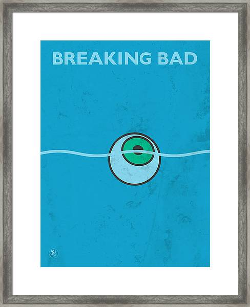 Framed Print featuring the digital art Breaking Bad - Floating Eyeball by Lance Vaughn