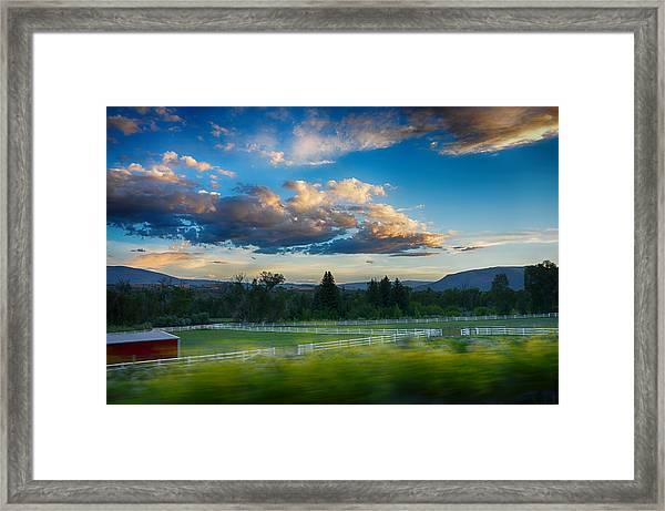 Breathtaking Colorado Sunset 1 Framed Print