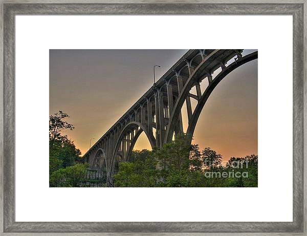 Brecksville Arched Bridge Framed Print