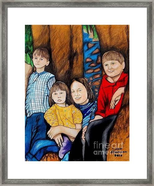 Brenda's Kids Framed Print