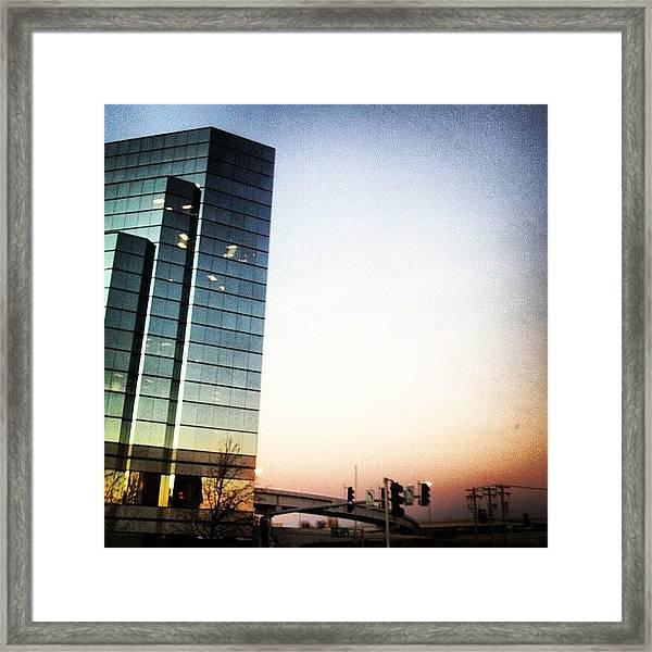 Brentwood Skyline Framed Print