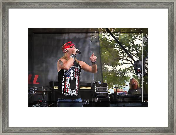 Bret Making Music Framed Print