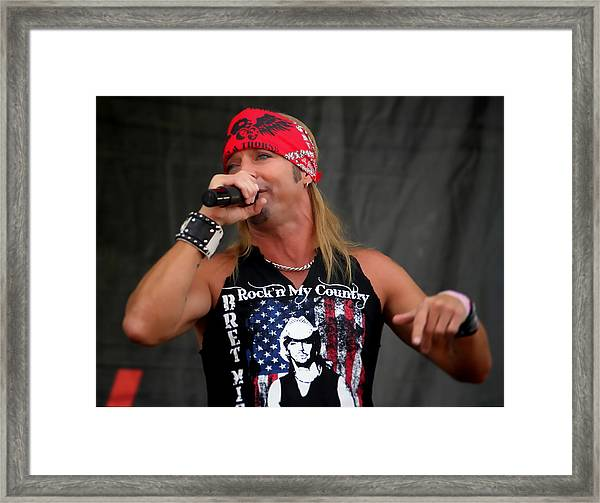 Bret Michaels In Philly Framed Print